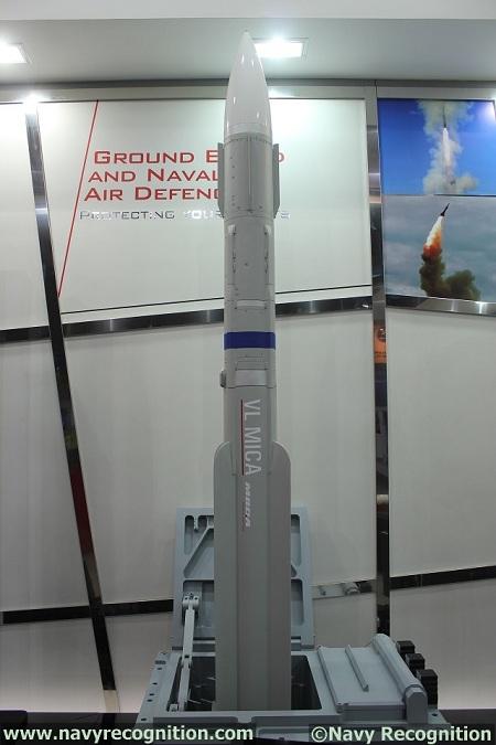 Đạn tên lửa của hệ thống VL MICA có tầm bắn xa 25km