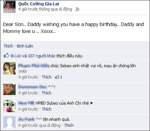 Showbiz hot 24h: Bằng Cường bị đồn làm trai bao, Cường đô la chúc mừng sinh nhật con trai