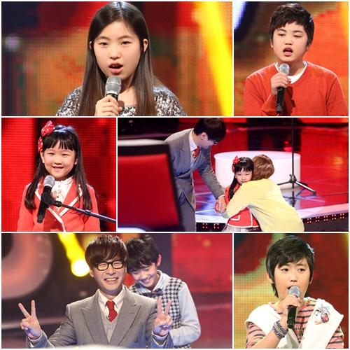 Những gương mặt nhí đáng yêu tại The Voice Kids Korea năm nay.