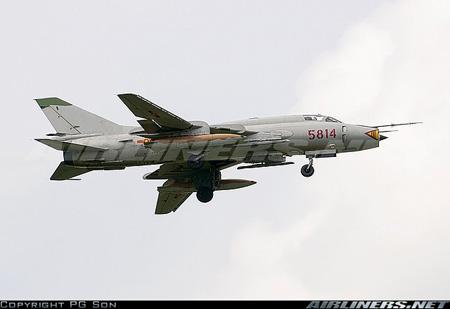 Tiêm kích bom Su-22.