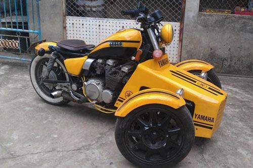 Xe Yamaha độ 3 bánh cực kỳ hầm hố