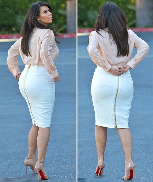Vòng 3 của cô ngày càng nảy nở tuy nhiên người đẹp vẫn cố gắng ních người trong chiếc váy chật.