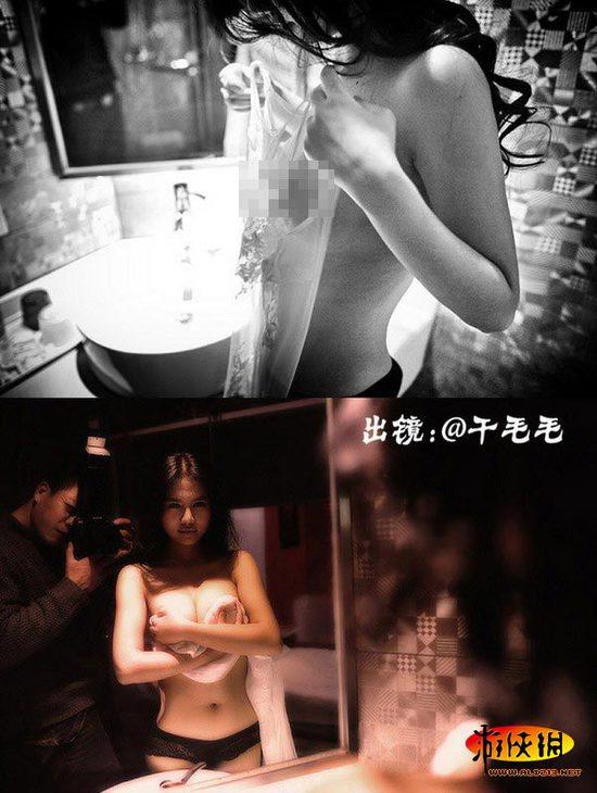Hậu trường buổi chụp hình khoe ngực của chị em Can Lộ Lộ 6
