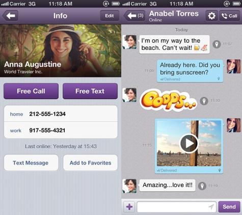 Hỗ trợ gửi tin nhắn dạng video và video chat