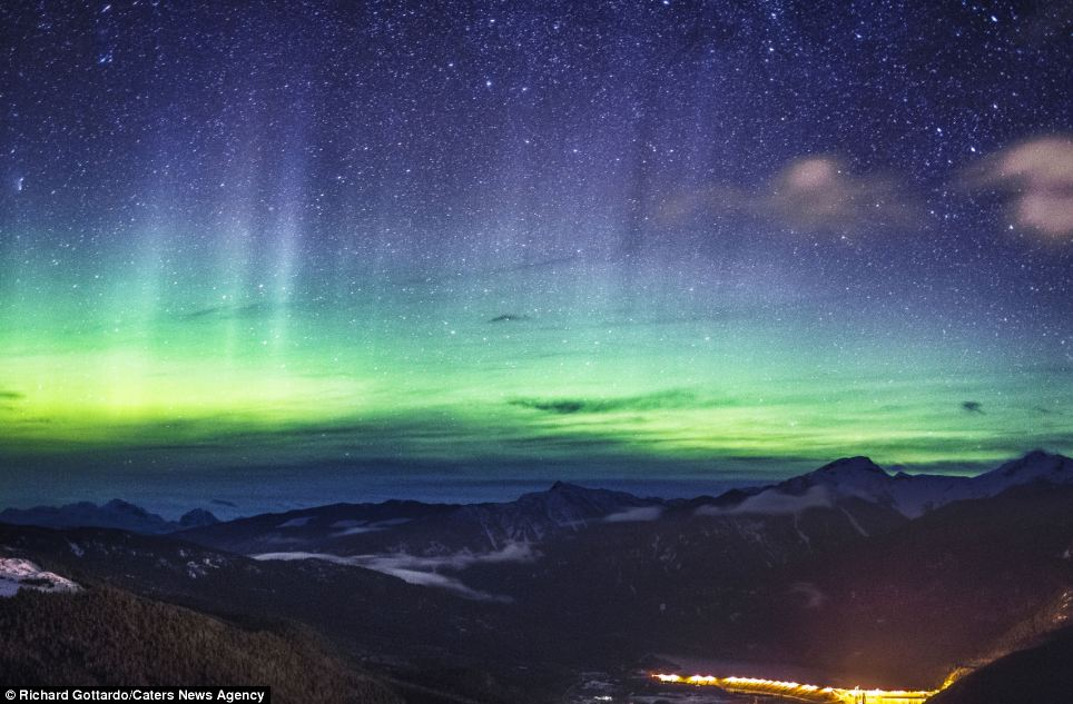 Fluorescent: Northern Lights is a name for aurora, a natural light display. these shots of the aurora borealis are a reflection of recent solar activity which has caused some amazing light shows