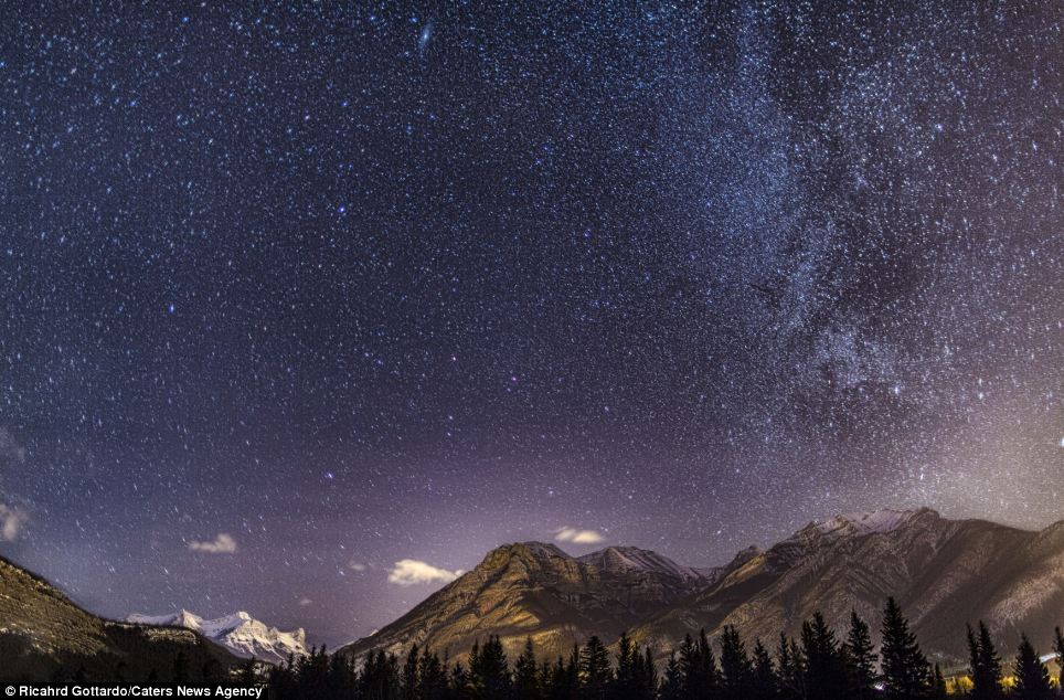 Spectacular sky: Some of the images are almost other-worldly in the way they brighten stars
