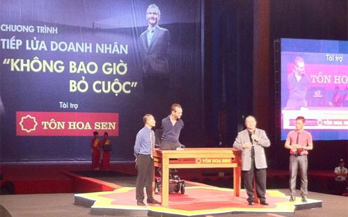 Theo lãnh đạo HSG, tập đoàn này đã chi tổng cộng 35 tỷ đồng cho sự kiện Nick Vujicic đến Việt Nam