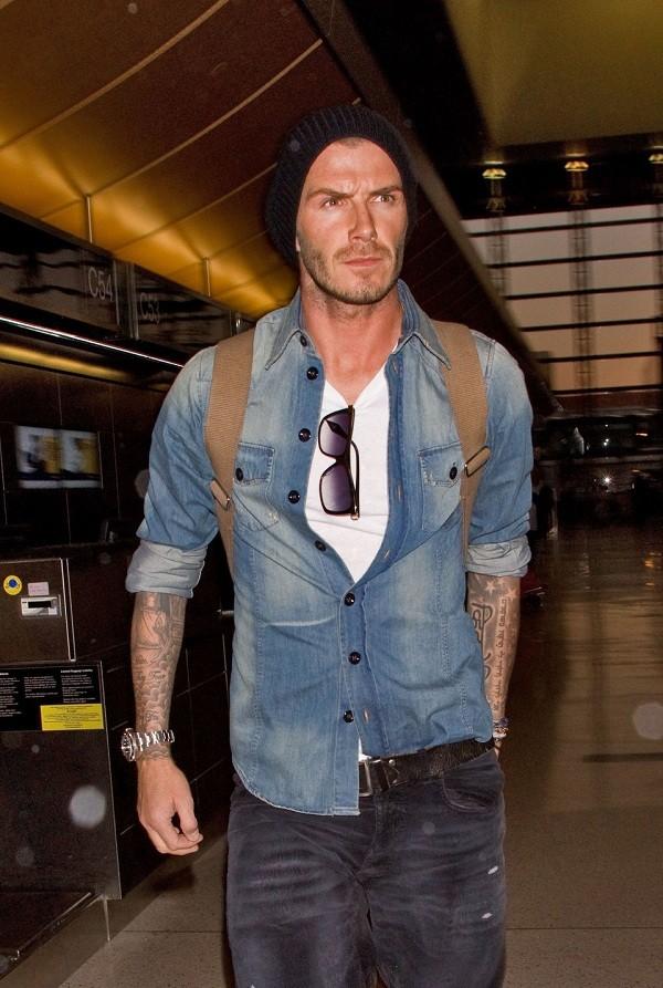 Bí quyết diện jeans của Beckham 8