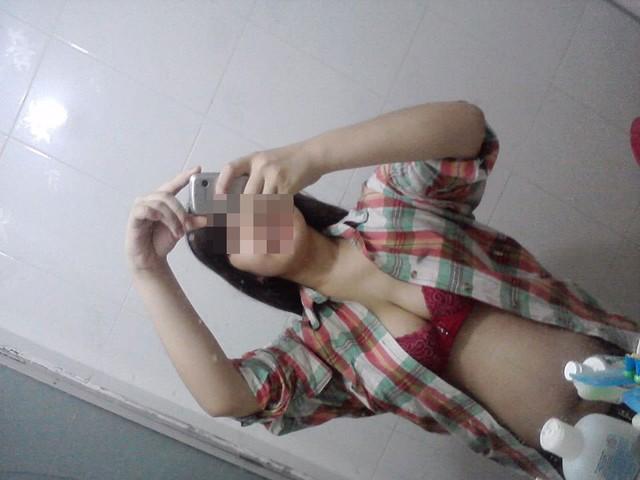 Hình ảnh chụp của cô gái này khi mang bầu.