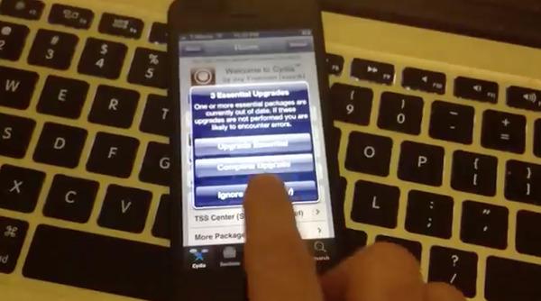 Chưa hoàn chỉnh nên bản jailbreak này làm cho chiếc iPhone 5 khá giật.