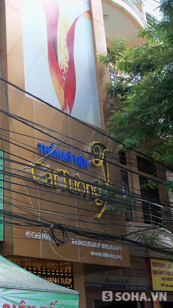 Thẩm mỹ viện Cát Tường, nơi nạn nhân tử vong