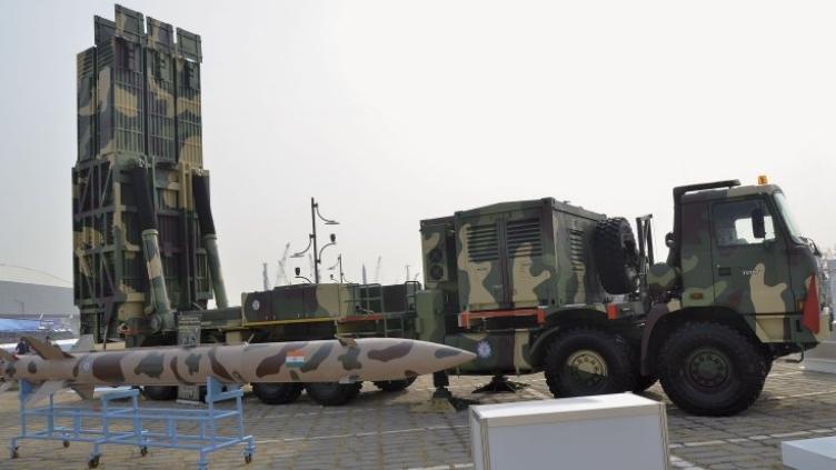 Tên lửa đất đối đất chiến thuật Pragati của Ấn Độ tại triển lãm ở Hàn Quốc