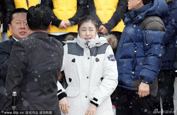 """Nữ hoàng trượt băng Kim Yuna """"phát khóc"""" vì rét 2"""