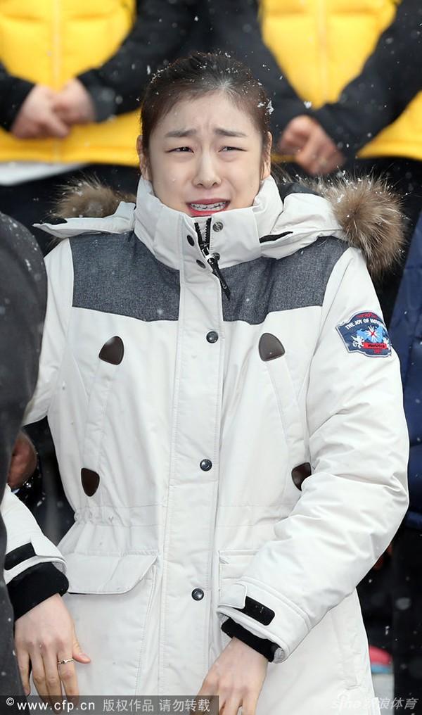 """Nữ hoàng trượt băng Kim Yuna """"phát khóc"""" vì rét 4"""