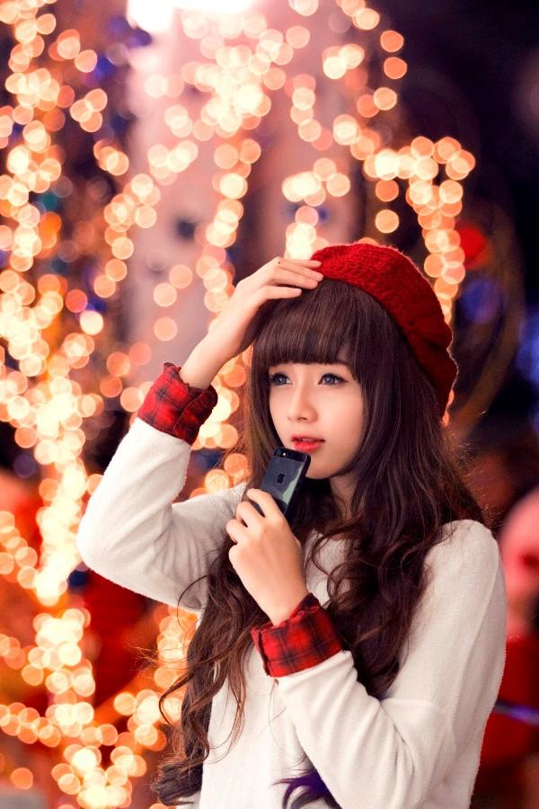 Ảnh Giáng sinh lung linh của hot girl ảnh thẻ Lan Hương