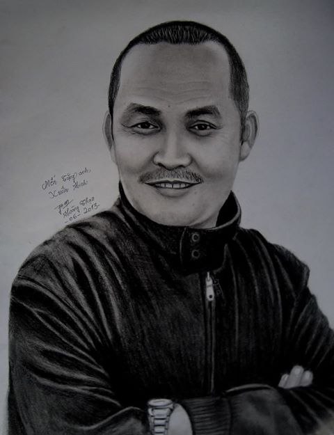 Bức tranh fan hâm mộ vẽ tặng Xuân Hinh trong 6 tiếng.