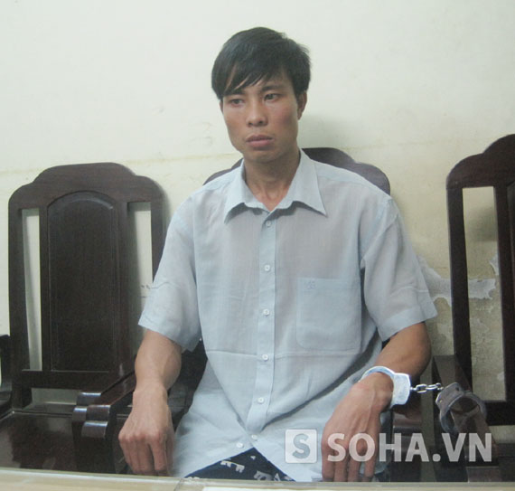 Đối tượng Lê Điền Hải tại cơ quan điều tra.