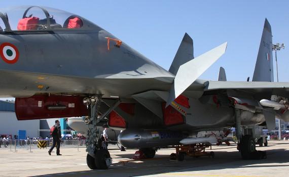 BrahMos trang bị cho tiêm kích Su-30MKI.