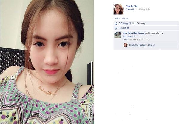 Mỗi bức ảnh, status của Chichi đều nhận được trên 4 nghìn lượt like