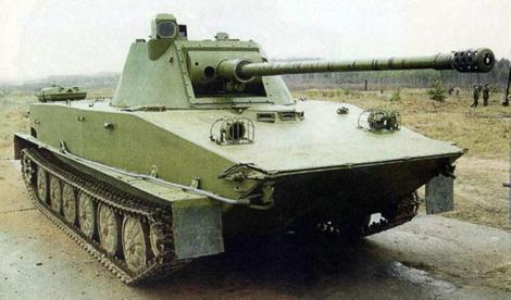 PT-76E với tháp pháo 57mm mới.