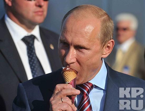 Ăn kem là một sở thích đời thường của Tổng thống Nga