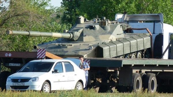 Hình ảnh được cho là biến thể nâng cấp của pháo tự hành chống tăng Sprut-SD.
