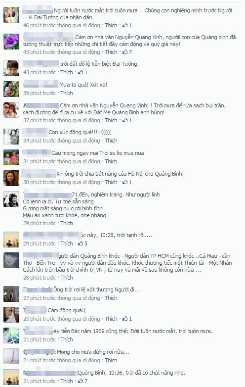 Những lời bình luận đầy xúc động của cộng đồng mạng