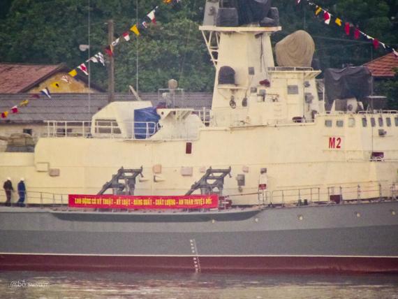 Hai tàu kí hiệu M1, M2 tại nhà máy đóng tàu Ba Son