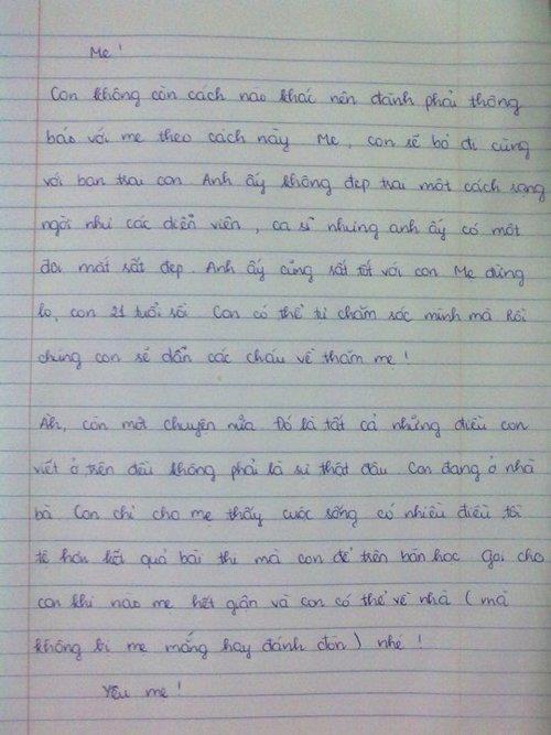 Lời thú tội mang chất...đe dọa của một học sinh. Người làm bản thú tội này đã rất