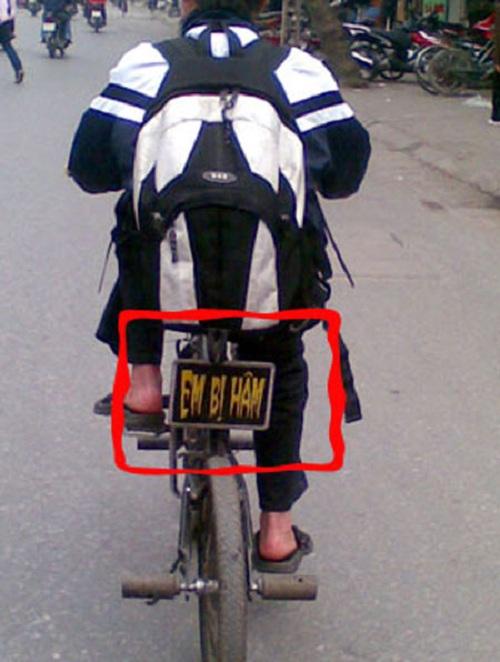 Xe đạp rất ít khi có biển số nhưng một khi đã có thì phải như thế này!!