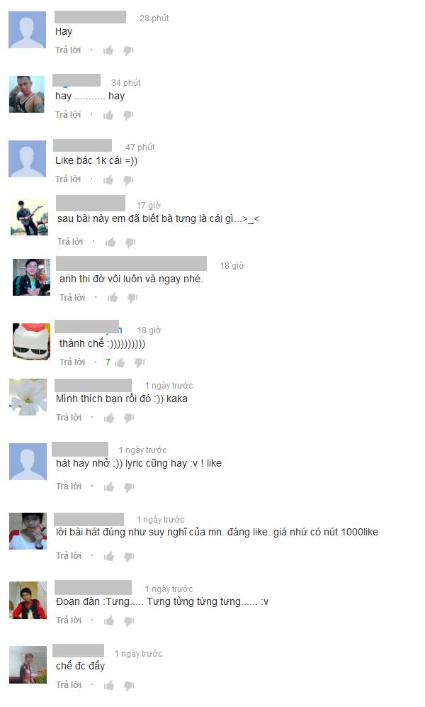 Bình luận của dân mạng trên YouTube.