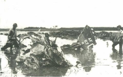 Xác máy bay F-111 của Mỹ bị quân dân miền Bắc bắn rơi