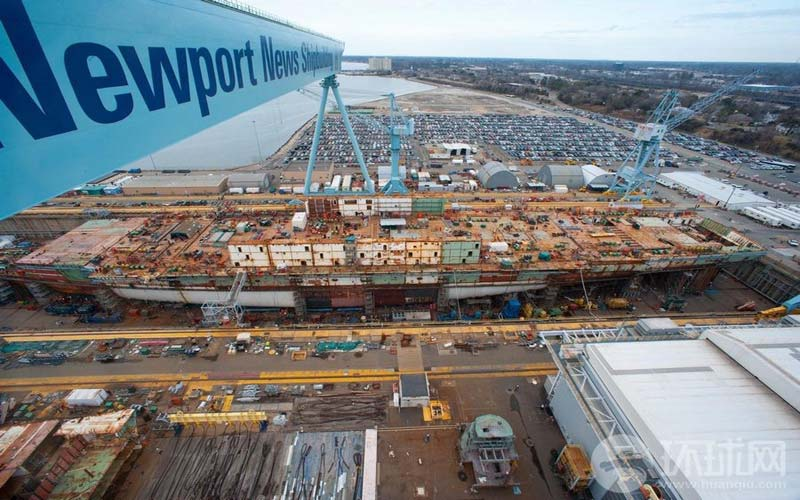 US Navy's most expensive warship ever built 'struggles Cvn 78 construction photos