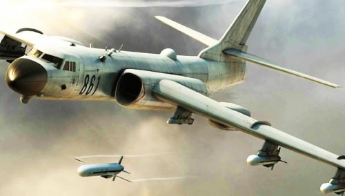Máy bay ném bom chiến lược H-6 và tên lửa CJ-10A của Trung Quốc