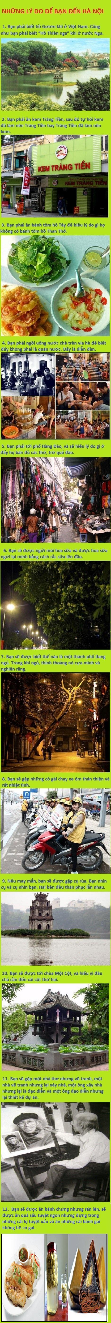 Những lý do bạn nên đến Hà Nội.