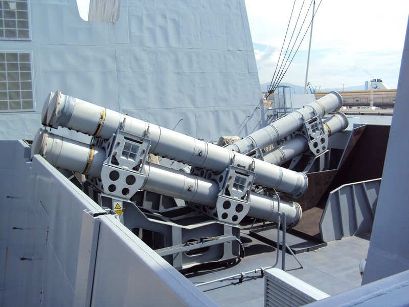 Tên lửa Exocet được bố trí trên tàu