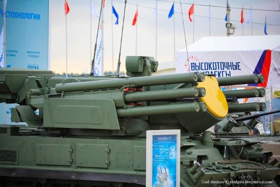 Hệ thống tên lửa – pháo phòng không Pantsir-S1 có thể mang tới 12 quả tên lửa đất đối không nhiên liệu rắn hai tầng trong hai bệ phóng và hai khẩu đại bác kép tự động 30 mm 2A38M. Cơ số đạn pháo là 1,4 nghìn viên.