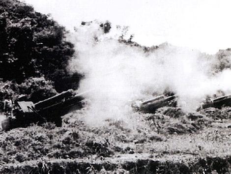 Lựu pháo M2A1 105 mm của Trung đoàn 45 trong chiến dịch Điện Biên Phủ