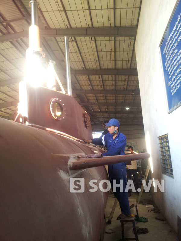 Cận cảnh tầu ngầm 'Trường Sa 1' của doanh nhân Việt