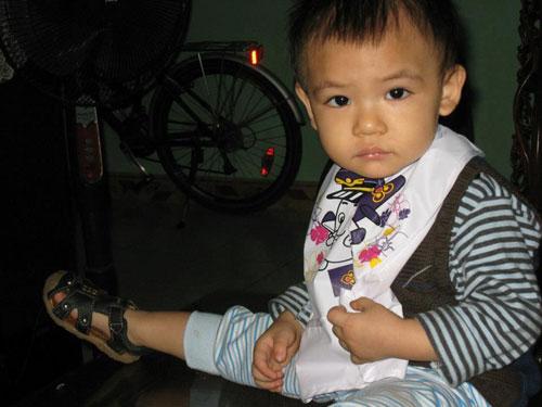 Con trai Quang Thắng.