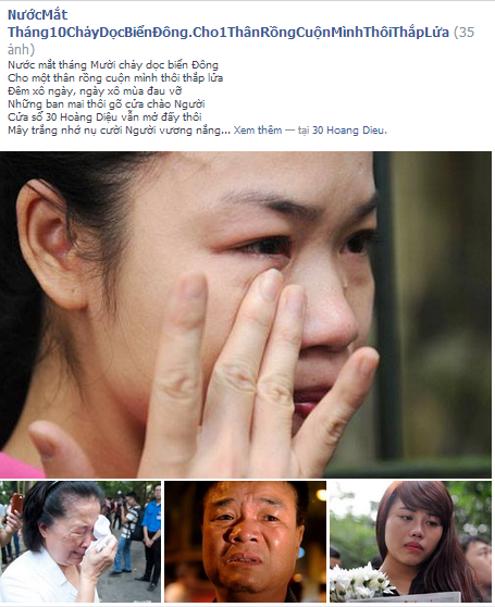 Bài thơ được chia sẻ trên trang facebook cá nhân của một thành viên có tên là Lương Đình Khoa