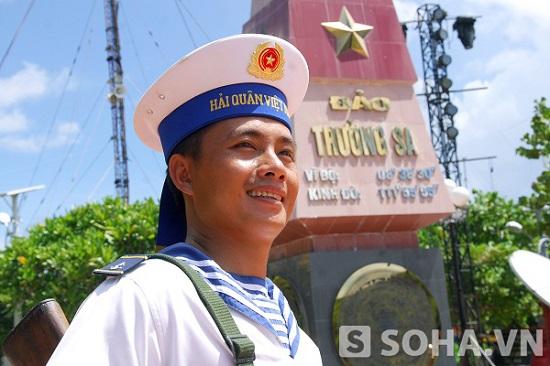Chiến sĩ Trường Sa. Ảnh: Trọng Thiết