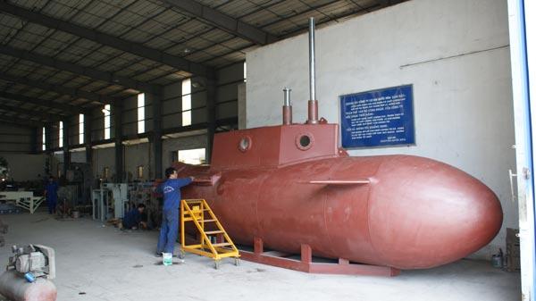 Toàn bộ tàu ngầm Trường Sa 1 đã cơ bản được hoàn thành, tàu ngầm này có thể chở từ 1-2 người.