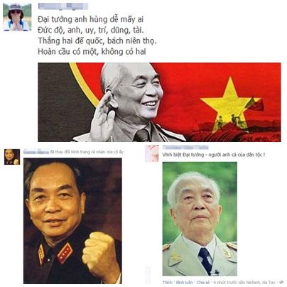 Cộng đồng mạng Việt đồng loạt thay đổi ảnh cá nhân bằng hình ảnh của Đại tướng Võ Nguyên Giáp