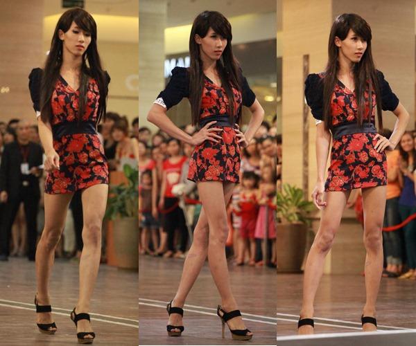 Nguyễn Văn Hiếu tự tin xuất hiện ở vòng casting cuộc thi VietNam's Next Top Model với hình ảnh giả gái