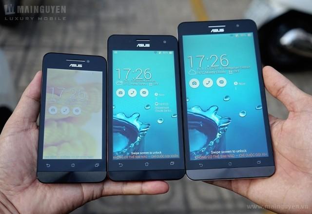 Trên tay bộ 3 smartphone Asus ZenFone giá rẻ tại Việt Nam