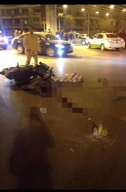 Lan truyền những hình ảnh khủng khiếp vụ tai nạn ở Chùa Bộc
