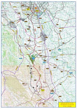 Bản đồ hướng tuyến dự án Mỹ Đình - Ba Sao - Bái Đính. Ảnh: duongbo.vn