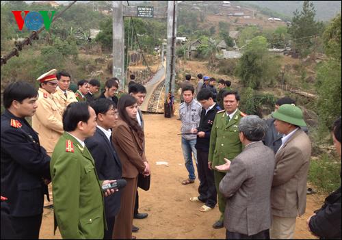 cầu treo, Tam Đường, Lai Châu, sập, đứt, đám ma, Chu Va, hình ảnh