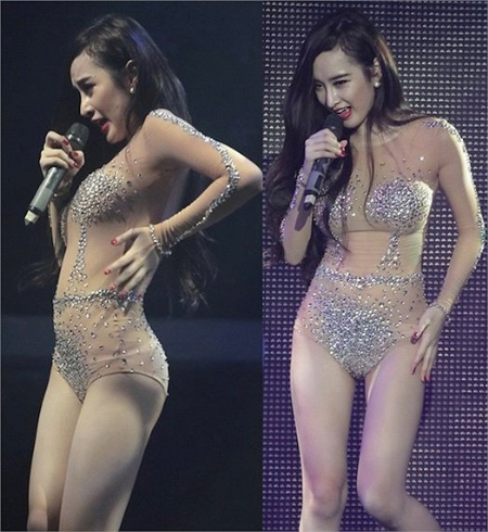 Hàng loạt trang phục và tiết mục biểu diễn phản cảm đã khiến Angela Phương Trinh dính án phạt trước đó.